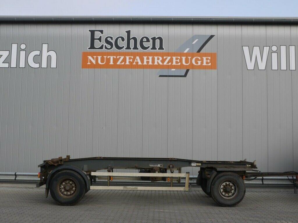 Container/ Wechselfahrgestell Anhänger Hüffermann Schlitten, Luft, BPW