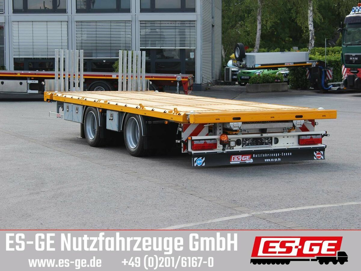 Plattform Anhänger ES-GE Tandemanhänger - Containerverr.