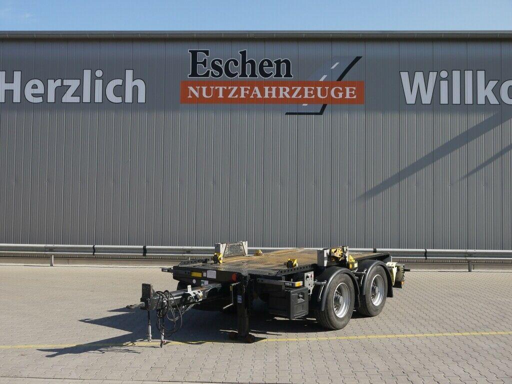 Plattform Anhänger Hüffermann HTM-09.35P Anhänger für Absetzmulden