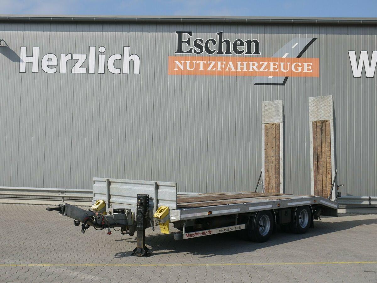 Pritschenanhänger/ Plattformanhänger Möslein TTA21 Tieflader*21 Tonnen*LIFTACHSE*Verzinkt*SAF