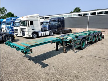 Pacton Containerchassis 4-assen / 1-as ROR - 2x Lift-assen - Meeloop stuur-as - Container/ Wechselfahrgestell Auflieger