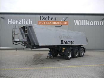 Kipper Auflieger Meiller TR 3 Alu 23 m³, Luft/Lift, Podest, Plane, BPW