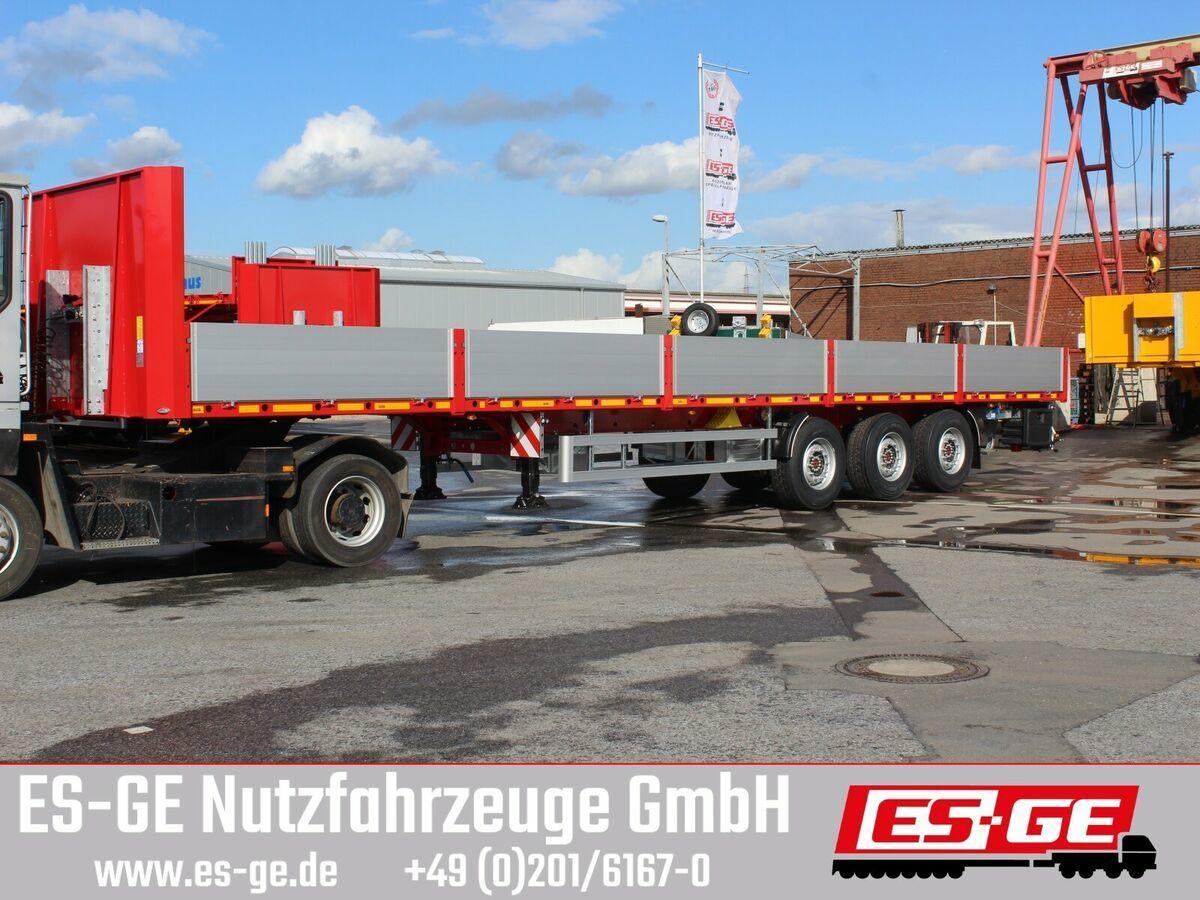 Plattform Auflieger ES-GE 3-Achs-Sattelanhänger - Bordwände