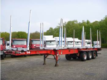 Plattform Auflieger Dennison 3-axle wood trailer 13.6 m