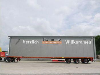 Pritschenauflieger/ Plattformauflieger Broshuis 3 AOU-48/1, 3 Lenkachsen, 7m Teleskopierbar, SAF