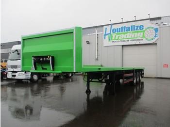 Pritschenauflieger/ Plattformauflieger CE REMORQUES Full steel - drum brakes - container transport