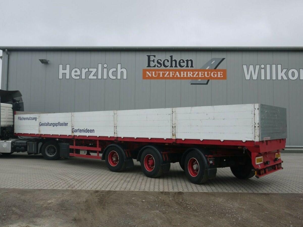 Pritschenauflieger/ Plattformauflieger Dinkel 2 Achsen gelenkt, SAF, Luft/Lift