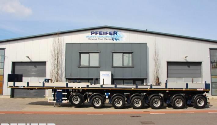 Pritschenauflieger/ Plattformauflieger Nooteboom OVB 95-07 69t Load Capacity, Available For Rent.