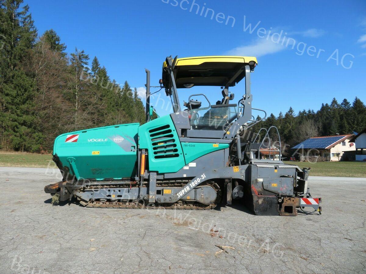 Asphaltfertiger/ Straßenfertiger Vögele Super S 1800 -3i