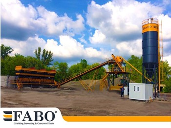 FABO 75m3/h STATIONARY CONCRETE MIXING PLANT - Betonmischanlage