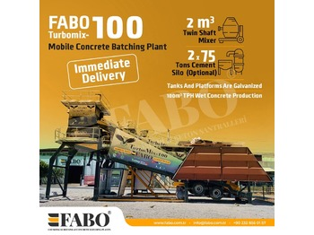 FABO READY IN STOCK MOBILE CONCRETE PLANT 100 M3/H - Betonmischanlage