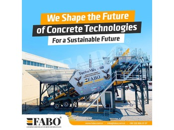 FABO READY IN STOCK MOBILE CONCRETE PLANT 60 M3/H - Betonmischanlage