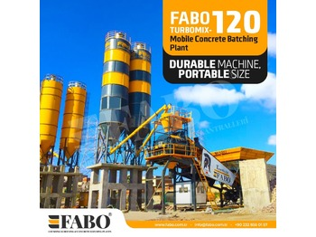 FABO TURBOMİX 120 NEW DESIGN MOBILE CONCRETE BATCHING PLANT IN ALL CAPACITIES - Betonmischanlage