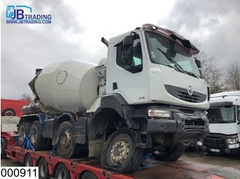 Renault Kerax 410 Dxi Damage truck, 8x4, Liebherr 9 M3, Steel suspension, Manual, Airco, euro 4 - Betonmischer