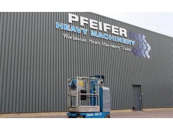 Gelenkarmbühne Genie GR-15 Electric, 6.35m Working Height, Non Marking