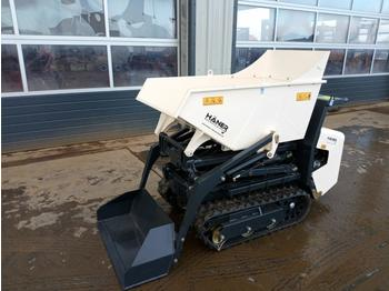 Unused 2020 Haner Tracked Pedestrian Hi-Tip Self Loading Dumper, Honda GX390 Engine - Mini-Kipper