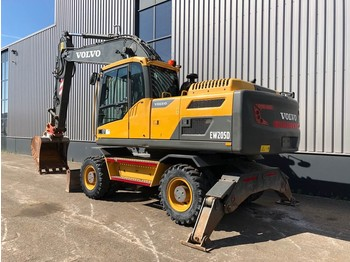 Volvo EW205D Mobile Excavator BLADE + OUTRIGGERS - Mobilbagger