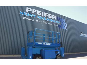 Scherenbühne Genie GS3268RT Diesel, 4x4 Drive, 12m Working Height, Ro
