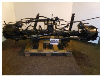 Steerable boggie axle  - Achse
