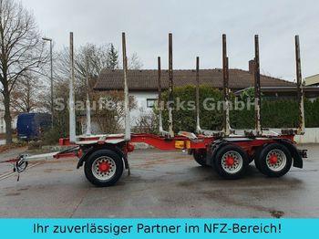 Holztransporter Huttner N6SE-27 Kurzholz 3-Achs Anhänger  Blattfederung