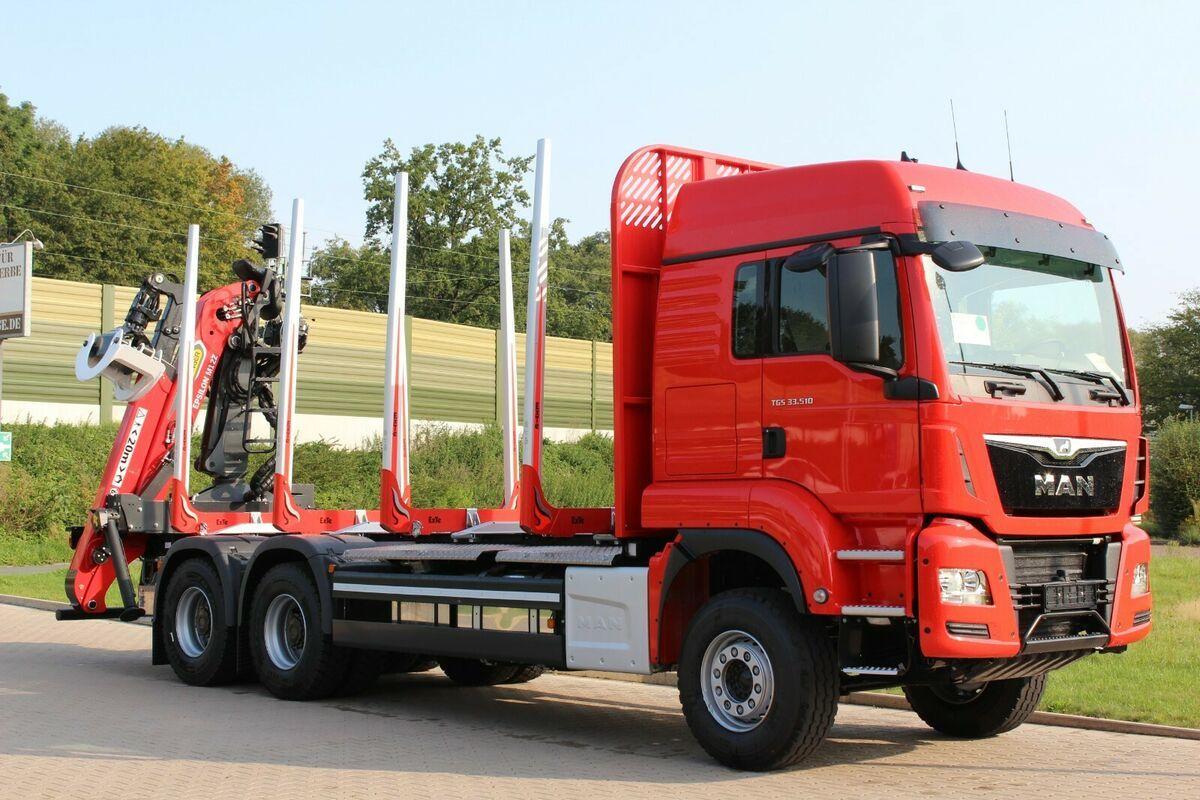 Holztransporter MAN TGS 33.510  6X4 BL/ Euro6d   EPSILON M 12Z