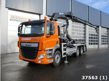 Abrollkipper DAF FAQ CF 460 8x2 Euro 6 HMF 26 ton/meter laadkraan