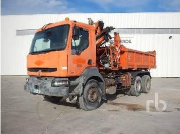 Abrollkipper RENAULT KERAX300 w/Crane