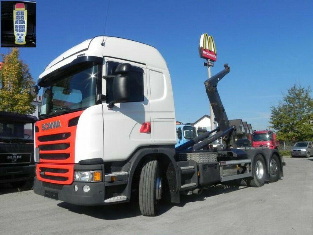 Abrollkipper Scania G 410 LB 6x2*4HNA Abrollkipper Meiller, Lift+Len