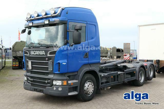 Abrollkipper Scania R500 LB 6x2, V8-Motor, Meiller RK20.65, Retarder