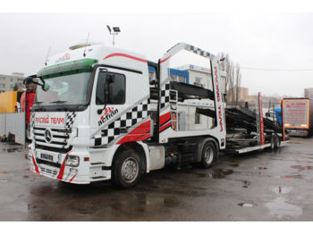 Autotransporter LKW Mercedes-Benz Actros 1844 LS AS + EUROLOHR C2 (FOR 8 CARS)