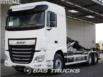 Containerwagen/ Wechselfahrgestell LKW DAF XF 480 6X2 NEW! HYVA 26-tons Hooklift Full Safety Options!
