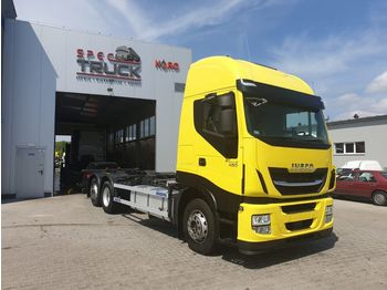 IVECO Stralis 480, AUTOMAT, CURSOR 11 German Truck, Very clean - Containerwagen/ Wechselfahrgestell LKW