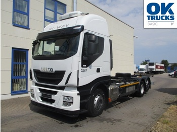Containerwagen/ Wechselfahrgestell LKW Iveco Stralis AS260S42Y/FPCM