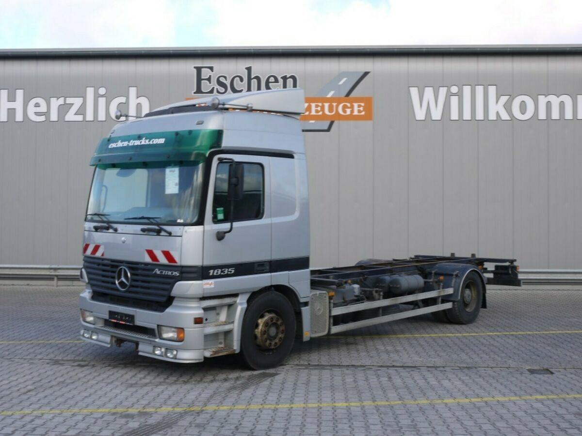 Containerwagen/ Wechselfahrgestell LKW Mercedes-Benz 1835 LL, 4x2, BDF, Klima, Luft