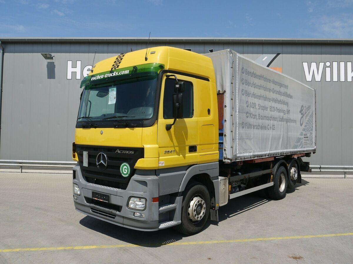 Containerwagen/ Wechselfahrgestell LKW Mercedes-Benz Actros 2541 L Fahrschule*3Sitze*Scheckheft*Klima