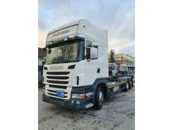 Containerwagen/ Wechselfahrgestell LKW Scania R 420 EEV Topline BDF Standard LBW Intarder Klim