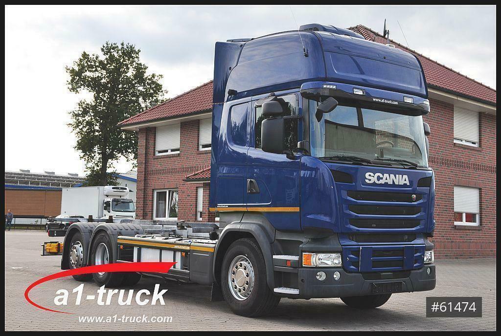 Containerwagen/ Wechselfahrgestell LKW Scania R 450 LB BDF ACC, Retarder, Navi