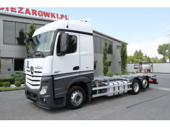 MERCEDES-BENZ ACTROS 2540 6x2 E6 BDF CHASSIS LOW DECK MEGA - Fahrgestell LKW