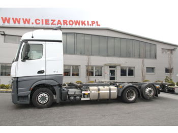 MERCEDES-BENZ ACTROS 2542 6x2 E6 CHASSIS BDF MEGA LOW DECK - Fahrgestell LKW