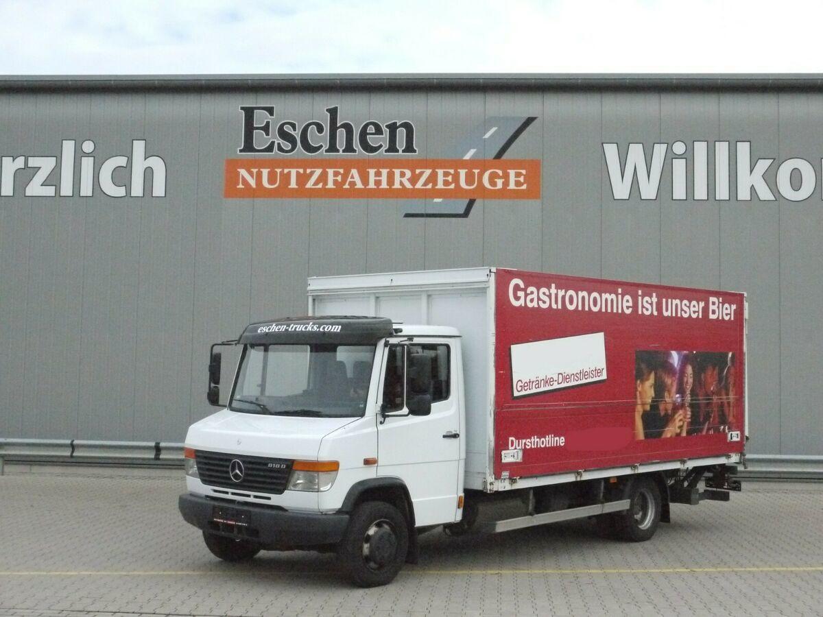 Getränkeaufbau LKW Mercedes-Benz  818 D Vario, Böse Schwenkwandkoffer, MBB-LBW