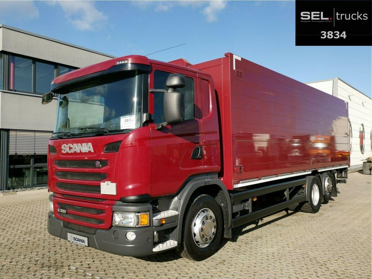 Getränkeaufbau LKW Scania G 320/ Lift-Lenkachse/ Ladebordw./ NAVI/ Kamera