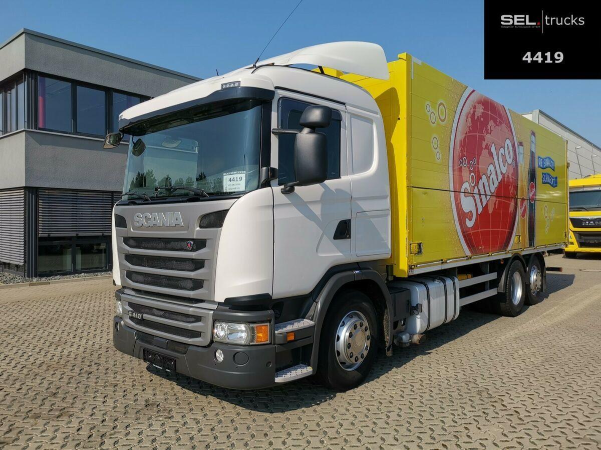 Getränkeaufbau LKW Scania G 410 / Retarder / Lenkachse / Ladebordwand