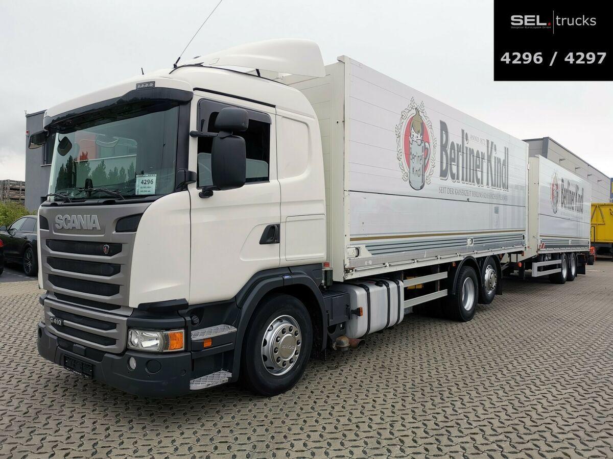 Getränkeaufbau LKW Scania G 410 / Retarder / Lift-Lenkachse / with trailer