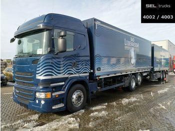 Getränkeaufbau LKW Scania R 450 LB6X2*4/Lenk-Liftachse/Retarder/Ladeborw.