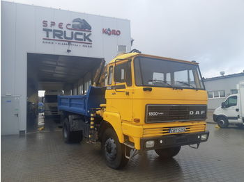 DAF 1800, FULL STELL ,TIPPER WITH CRANE ,4X4 - Kipper