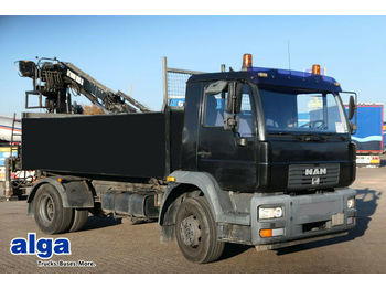 Kipper MAN 15.224 4x2, 3.800mm lang, Heckkran HIAB 085