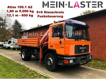 MAN 18.232 3 S-Kipper +Atlas 100  Funk FB 12m-600kg  - Kipper