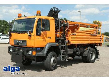 Kipper MAN 18.255/4x4/Allrad/Winterdienst/Streuer/Kran Hiab