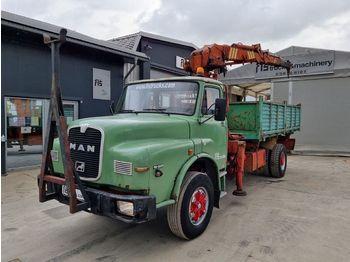 Kipper MAN 19.321 4x2 - tipper - crane