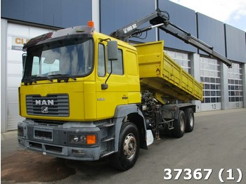 Kipper MAN 33.364 6x4 Manual Steel Euro 2 Hiab 10 ton/meter Kran